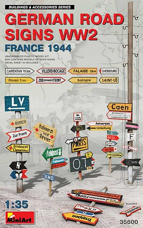 Mini-Art WWII German Road Signs France 1944 1-35