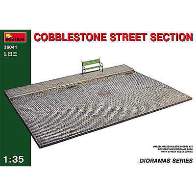 Mini-Art Cobblestone Street Plastic Model Military Accessory 1/35 Scale #36041