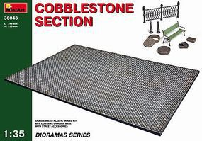 Cobblestone Section Plastic Model Diorama 1/35 Scale #36043