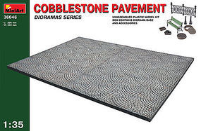 Mini-Art 1/35 Cobblestone Pavement Section & Accessories