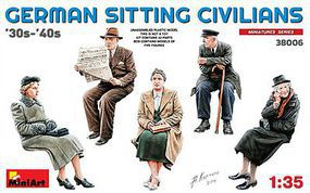 Mini-Art 1/35 German Civilians Sitting 1930-40s (5) (New Tool)