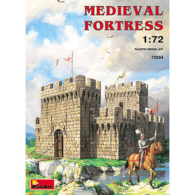 Mini-Art Medieval Fortress -- Plastic Model Building Kit -- 1/72 Scale -- #72004