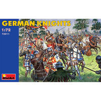 Mini-Art German Knights XV Century Plastic Model Military Figure 1/72 Scale #72011