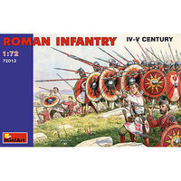 Mini-Art Roman Infantry III-IV Century Plastic Model Military Figure 1/72 Scale #72012