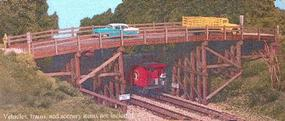 Monroe Country Road Bridge Kit HO Scale Model Railroad Bridge #2007