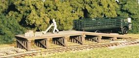 Monroe Railroad Loading Ramp & Dock Kit HO Scale Model Railroad Building #2203