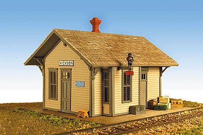 Monroe Hickson Depot Kit HO Scale Model Railroad Building #2210