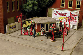 Monroe J. Burke Gas Station Kit HO Scale Model Railroad Building #2218