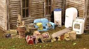 Monroe Back Yard Junk Mini Tales(TM) Kit HO Scale Model Railroad Building Accessory #2302