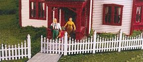 Monroe Ornate Picket Fence Kit HO Scale Model Railroad Building Accessory #2308
