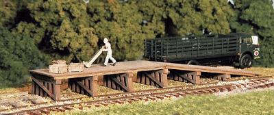 Monroe Railroad Loading Dock Kit N Scale Model Railroad Building Accessory #9203