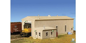 Monroe Diesel Engine House Laser-Cut Card Kit - 5-1/8 x 3-1/4 x 2 - N-Scale