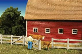 Monroe Barn Yard Fence 339 Scale Feet Total N Scale Model Railroad Building Accessory #9310