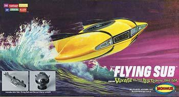 Moebius Models Voyage to the Bottom of the Sea Mini Flying Submarine -- Plastic Model Kit -- #101