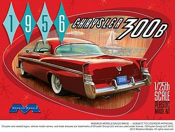 Moebius 1956 Chrysler 300B Plastic Model Car Kit 1/25 Scale #1207