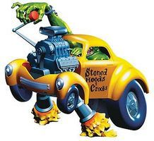 Von Franco's Stoned Hoods & Crooks Custom Car Plastic Model Fantasy Figure 1/25 Scale #1209