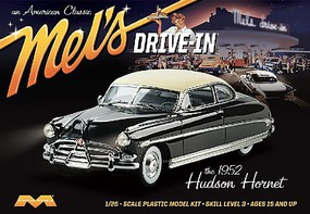 Moebius 1952 Hudson Hornet Mels Drive-In Plastic Model Car Kit 1/25 Scale #1216