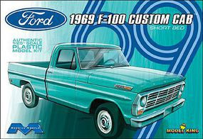 Moebius 1969 Ford F100 Custom Cab Truck w/ Short Bed (Ltd Prod) Plastic Model Truck Kit 1/25 #1227