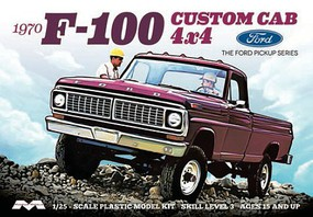 Moebius 1970 F-100 Ford Custom Cab Plastic Model Car Kit 1/25 Scale #1230