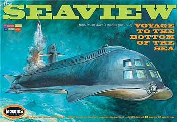 Moebius Voyage to the Bottom of the Sea 8 Window Seaview Plastic Model Celebrity Kit #708