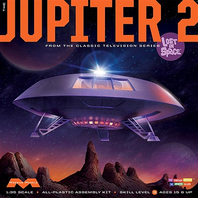 Moebius Lost in Space Jupiter 2 Science Fiction Plastic Model Kit #913
