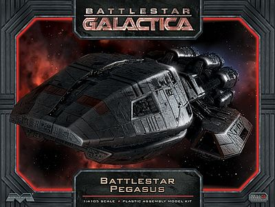 Moebius Models Battlestar Galactica Battlestar Pegasus -- Science Fiction Plastic Model Kit -- 1/4105 Scale -- #931