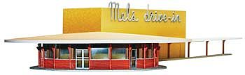 Moebius Models Mel's Drive-In -- Plastic Model Building Kit -- HO Scale -- #935