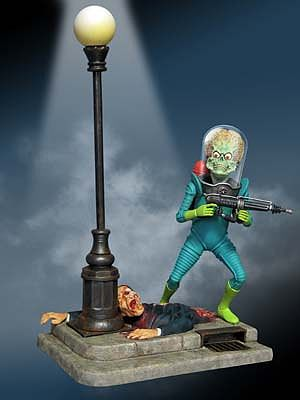 Moebius Models Mars Attacks Martian Figure -- Plastic Model Celebrity Kit -- 1/8 Scale -- #936