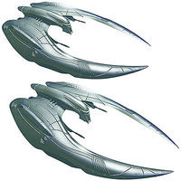 Moebius BSG Cylon Raider 2 Pack Science Fiction Plastic Model Kit 1/72 Scale #959