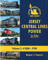 Morning-Sun Jersey Central Lines Power in Color Volume 2 #2000-9709 Model Railroading Book #1568