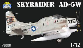 Modelsvit Skyraider AD5 Early Warning Version Aircraft Plastic Model Aircraft Kit 1/72 Scale #1