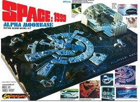 MPC Space 1999- Moon Base Alpha Space Program Plastic Model Kit 1/2000 Scale #803