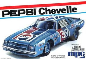 MPC Pepsi 1975 Chevy Chevelle Stock Car 1/25 Scale Plastic Model Car Kit #808