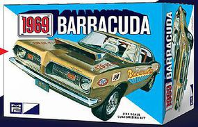 MPC 1969 Plymouth Barracuda Plastic Model Car Kit 1/25 Scale #832