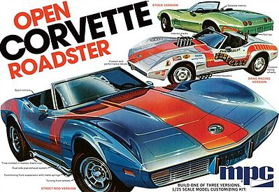 MPC by Ertl 1975 Chevy Corvette Convertible -- Plastic Model Car Kit -- 1/25 Scale -- #842