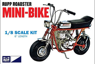 MPC by Ertl Rupp Mini Bike (Red) -- Plastic Model Motorcycle Kit -- 1/8 Scale -- #849