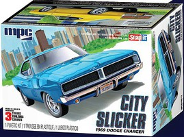 MPC 1/25 1969 Dodge Charger Slicker R/T Car (Snap)