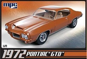 MPC 1972 Pontiac GTO (dark orange and clear mold) Plastic Model Car Kit 1/25 Scale #711