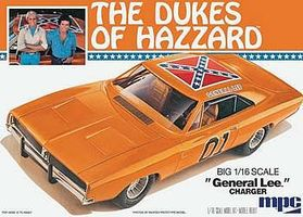 MPC Dukes General Lee Charger Plastic Model Car Kit 1/16 Scale #752