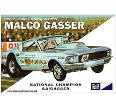 MPC Ohio George Malco Gasser 1967 Mustang Plastic Model Car Kit 1/25 Scale #800_12