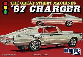 MPC 1967 Charger Great Street Machines Plastic Model Car Kit 1/25 Scale #829-12