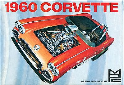 MPC by Ertl 1960 Chevy Corvette -- Plastic Model Car Kit -- 1/25 Scale -- #830-12