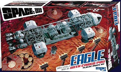 MPC by Ertl 22'' Space 1999 Eagle Transporter with Cargo Pod -- Science Fiction Plastic Model -- #838-06
