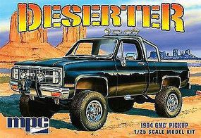 MPC 1984 GMC Pickup Black Plastic Model Car Kit 1/25 Scale #848-12