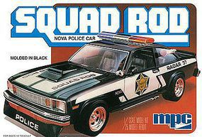 MPC 1979 Chevy Nova Squad Rod Police Car Plastic Model Car Kit 1/25 Scale #851-12