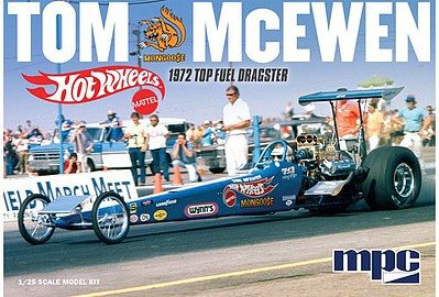 MPC by Ertl Tom Mongoose McEwen 1972 Re Eng Dragster -- Plastic Model Car Kit -- 1/25 Scale -- #855-12