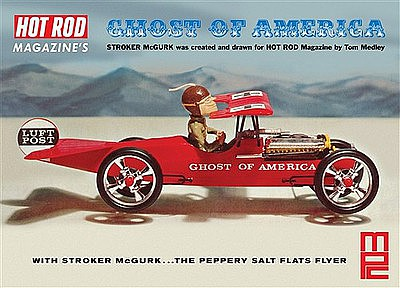 MPC by Ertl Stroker McGurk Ghost America Flying Car -- Plastic Model Car Kit -- 1/18 Scale -- #866-12