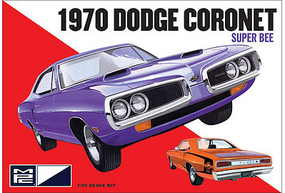 MPC 1970 Dodge Coronet Super Bee Plastic Model Car Kit 1/25 Scale #869-12