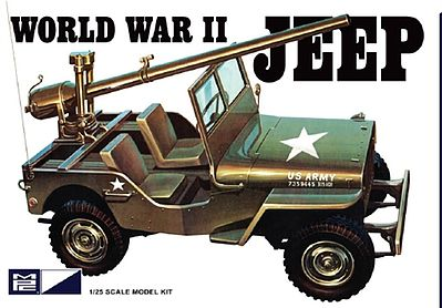 MPC by Ertl WWII US Army Jeep -- Plastic Model Jeep Kit -- 1/25 Scale -- #pc785