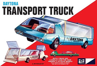 MPC Daytona Transport Truck Plastic Model Car Truck Kit 1/25 Scale #pc787